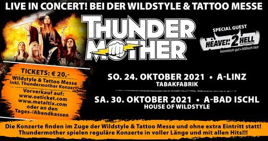 Thundermother • Linz • Wildstyle & Tattoo Messe, 1 May | Event in Linz | AllEvents.in