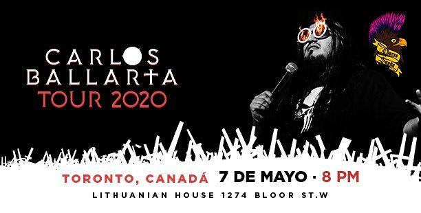 Carlos Ballarta En Toronto Tour 2020, 1 October   Event in Toronto   AllEvents.in