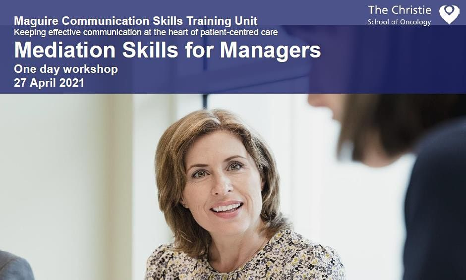 Mediation Skills for Managers - April 2021, 27 April | Event in Stockport | AllEvents.in
