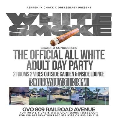 Cigars & Sundresses - Ultimate ALL WHITE Adult Day-Party Experience