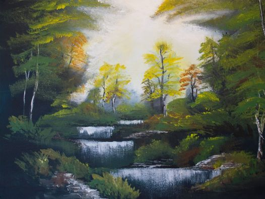 Paint and Wine Night - Bob Ross Autumn Forest, 10 November   Event in Auckland   AllEvents.in