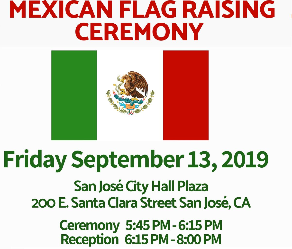 City Hall Mexican Flag Raising Ceremony