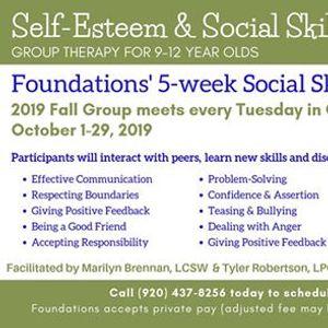 5-Week Self-Esteem & Social Skills Group for Tweens