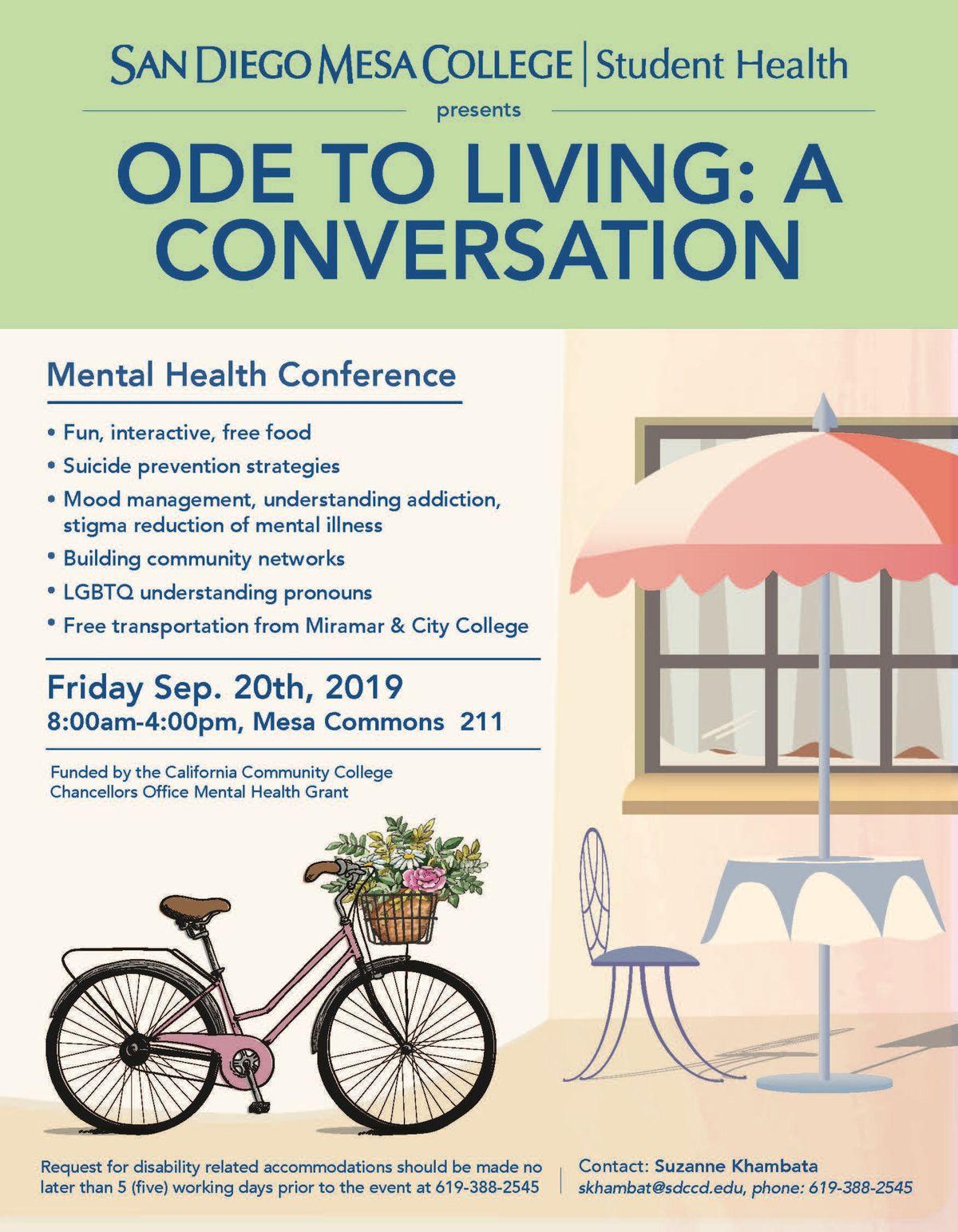 San Diego Mesa College Mental Health Confrence