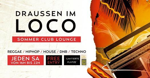 Draussen im LOCO - Summer Club Lounge