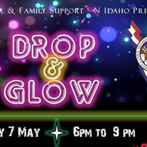 Military Family Kids Night Out Parents Night Off - Drop and Glow Party