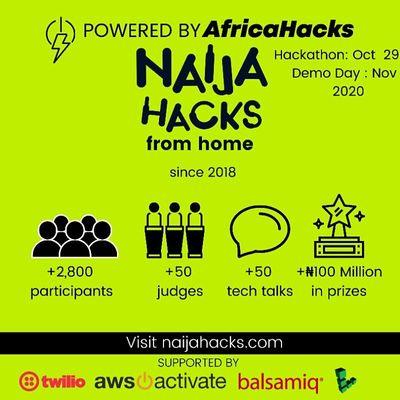NaijaHacks 2020 NaijaHacks from home