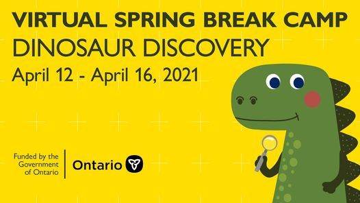 Virtual Spring Break Camp: Dinosaur Discovery, 12 April   Online Event   AllEvents.in