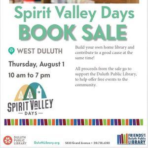 Spirit Valley Days Book Sale