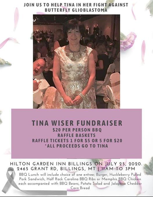 Tina Wiser Fundraiser Hilton Garden Inn Billings Mt 25 July