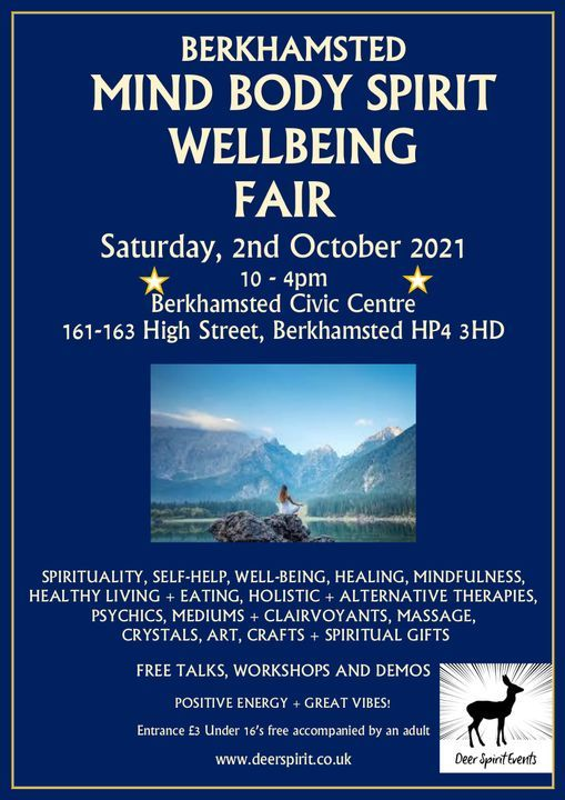 Berkhamsted Mind Body Spirit Wellbeing Fair, 2 October   Event in Berkhamsted   AllEvents.in