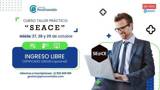"Curso Taller Práctico: ""SEACE"", 27 October | Event in Lima | AllEvents.in"