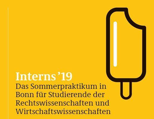 Interns 19 - Das Sommerpraktikum