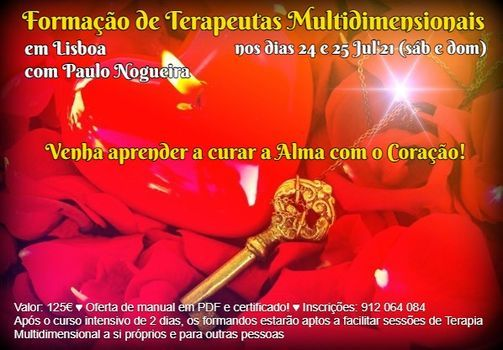 Curso de Terapia Multidimensional em Lisboa em Jul'21 | Event in Lisbon | AllEvents.in
