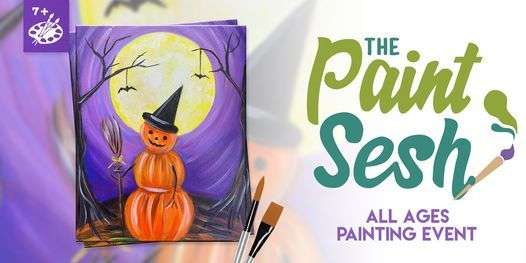 """In-Person All Ages Painting Class in Downtown Riverside, CA – """"Pumpkinman"""" (7+), 16 October   AllEvents.in"""