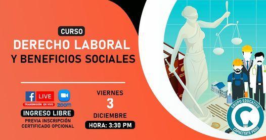 Curso Gratuito: Derecho Laboral y Beneficios Sociales, 3 December | Online Event | AllEvents.in