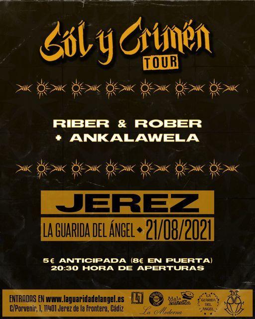 RIBER & ROBER + ANKALAWELA en La Guarida del Ángel, 21 August | Event in Jerez | AllEvents.in