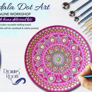 Mandala Dot Art Online Workshop with Home Delivered Kits