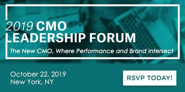 2019 Marketing Leadership Forum The New CMO Where Performance and Brand I