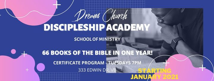 Dream Church Discipleship Academy, 9 March   Event in Fort Monroe   AllEvents.in