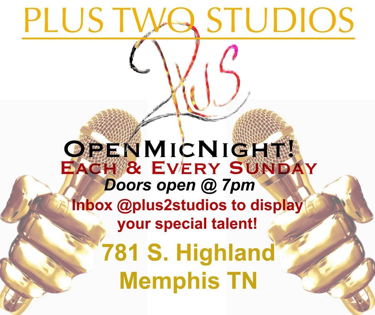 Plus Two Studios Open Mic Night | Event in Memphis | AllEvents.in