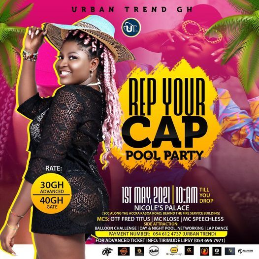 Rep Your Cap Pool Party, 1 May | Event in Lome | AllEvents.in