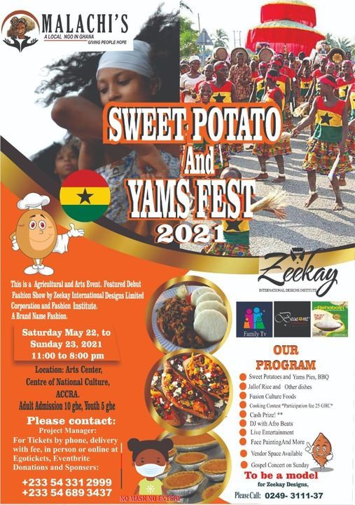 Sweet Potatoes and Yams Fest Ghana 2021, 22 May | Event in Accra | AllEvents.in