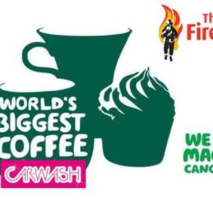 The FireFighters Charity Macmillan Drive thru Coffee Morning Car Wash