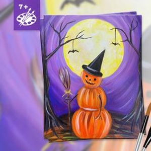 In-Person All Ages Painting Class in Downtown Riverside CA  Pumpkinman (7)