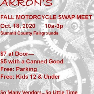 2020 Fall Akrons Motorcycle Swap Meet, Summit County Fairgrounds