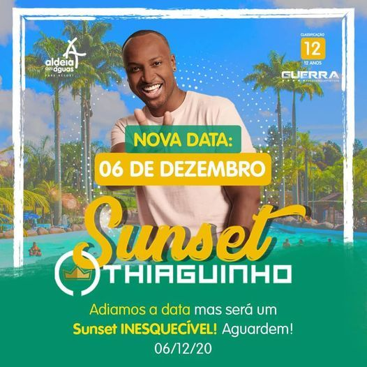 Show Thiaguinho + Ingresso Parque, 6 December | Online Event | AllEvents.in