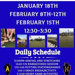January & February Junior Golf Camp