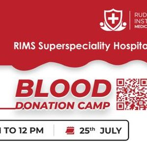 Blood Donation Camp At RIMS HealthCare