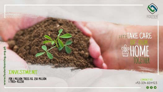Foster | 1 Million Tree Plantation Drive, 31 December | Event in Gujranwala | AllEvents.in