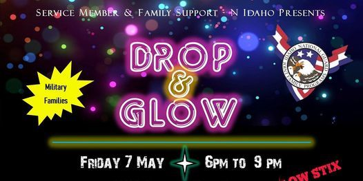 Military Family Kids' Night Out, Parents' Night Off - Drop and Glow Party, 7 May | Event in Post Falls | AllEvents.in