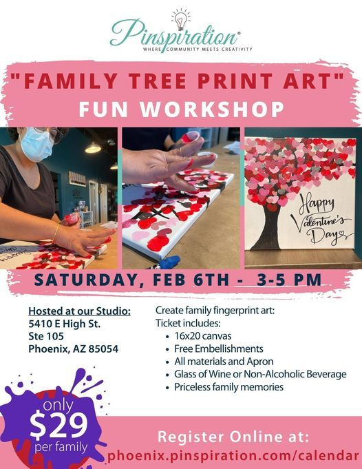 Family Tree- Valentine's Fingerprint Canvas Event, 6 February | Event in Phoenix | AllEvents.in