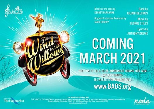 Auditions BAOS The Wind in the Willows