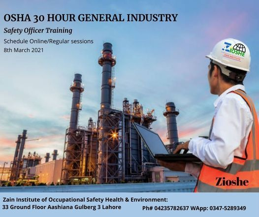 OSHA 30 Hour General Industry | Event in Lahore | AllEvents.in