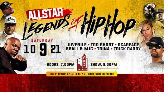 All-Star Legends of Hip Hop, 9 October | Event in Atlanta | AllEvents.in