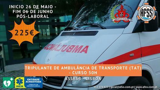 Tripulante de Ambulância de Transporte - 50H, 26 May | Event in Lisbon | AllEvents.in
