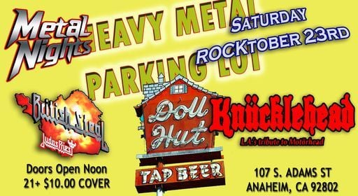 Motorhead, Judas Priest & Metal Nights Tributes at The Doll Hut, 23 October   Event in Anaheim   AllEvents.in