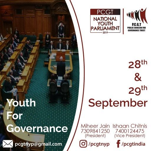 PCGT National Youth Parliament 2019