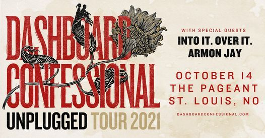 CANCELED: Dashboard Confessional: Unplugged Tour at The Pageant, 14 October | Event in St. Louis | AllEvents.in