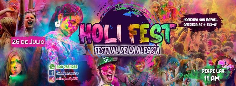 Holi Fest - El Festival de la Alegría, 26 September   Event in Engativa   AllEvents.in