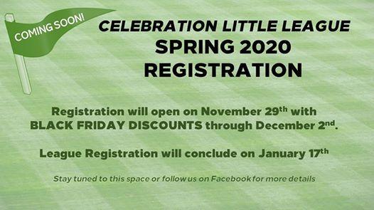 Spring Black Friday 2020.Spring 2020 Registration Black Friday Deals At Celebration