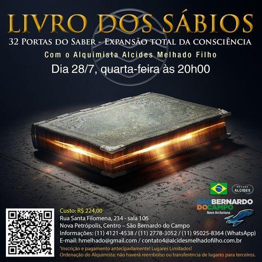 Livro dos Sábios - Curitiba, 11 July | Event in Curitiba | AllEvents.in