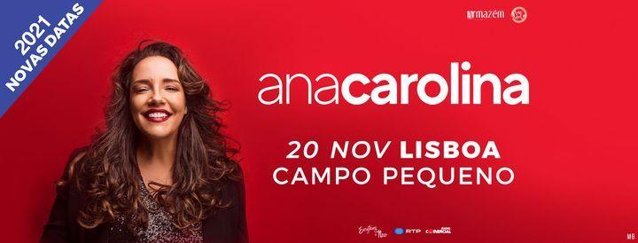 Nova Data: Ana Carolina // Campo Pequeno, 20 November | Event in Lisbon | AllEvents.in