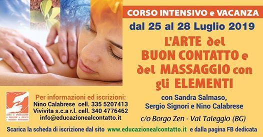 LArte del Buon Contatto ed il Massaggio con gli Elementi