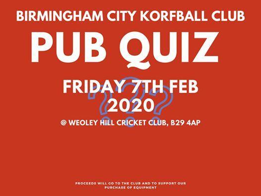Annual Pub Quiz - SAVE the DATE