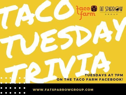 Taco Farm Tuesday Trivia 2, 20 April | Event in Waterloo | AllEvents.in